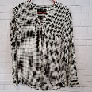 Talbots blouse with button sleeves